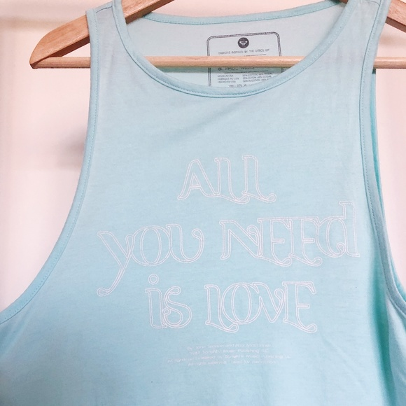 Roxy Tops - Roxy Tank with Beatles Lyrics